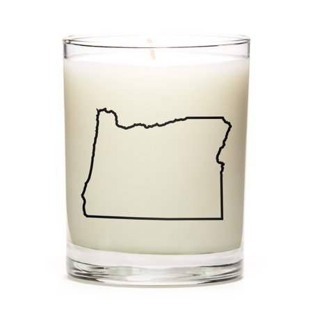 Custom Unity Candle - Custom Gift with the Map Outline of Oregon - U.S State! Make your Gift Special with our Premium Custom Candles, Soy Wax, Low Smoke, Even Burn, Luna Candle Co. - Lemon