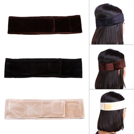 New Women Velvet Wig Grip Scarf Head Wrap Headband Adjustable Hair Band (Long Scarf Headband)