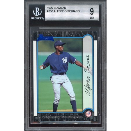 1999 bowman #350 ALFONSO SORIANO new york yankees rookie BGS 9 (9.5 9 8.5 9.5)