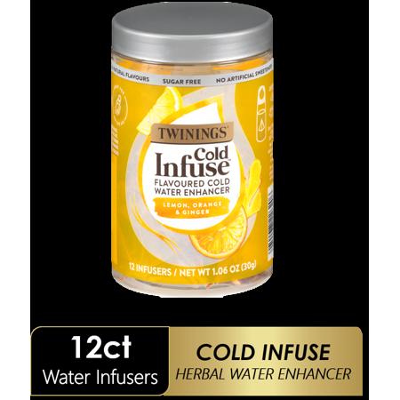 Twinings Cold Infuse Lemon, Orange & Ginger Tea Bags, 12 Ct.