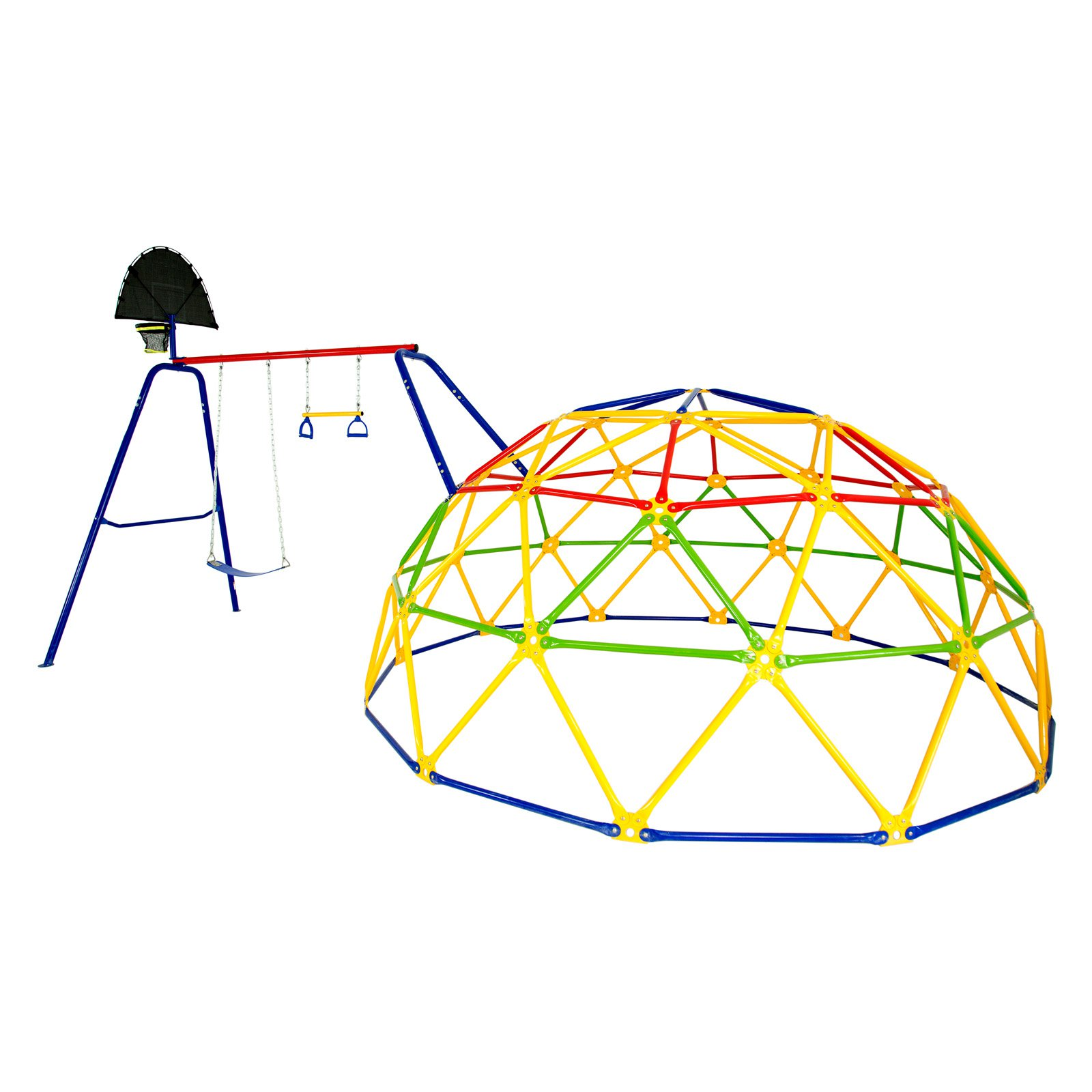 Skywalker Sports Geo Dome Climber with Swing Set Accessory