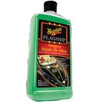 Meguiar's Flagship Premium Wash-N-Wax – Marine/RV Blend of Carnauba and Polymers – M4232, 32 oz