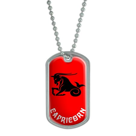 Capricorn The Sea Goat Zodiac Horoscope Dog Tag