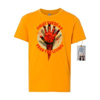 The Walking Dead Fight the Dead Hand Youth Short Sleeve Shirt