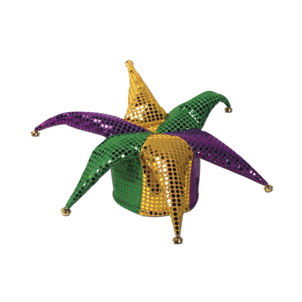 Beistle (12ct) Glitz 'N Gleam Jester Hat w/bells