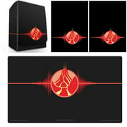 Max Pro Iconic Elemental Fire Red Deck Box , Playmat and 100 Shuffle-Tech Sleeves (fits MTG / Force of Will)