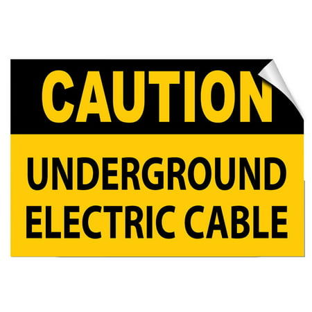 Traffic Signs - Caution - Undergroun​d Electric Cable Hazard 10 x 7 Aluminum Sign Street Weather Approved Sign 0.04 Thickness