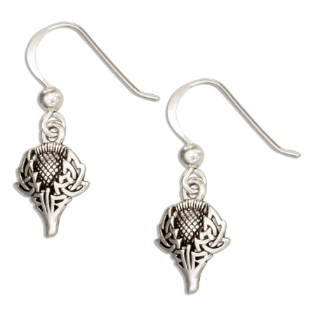 Scottish Thistle Jewellery - STERLING SILVER SCOTTISH THISTLE EARRINGS