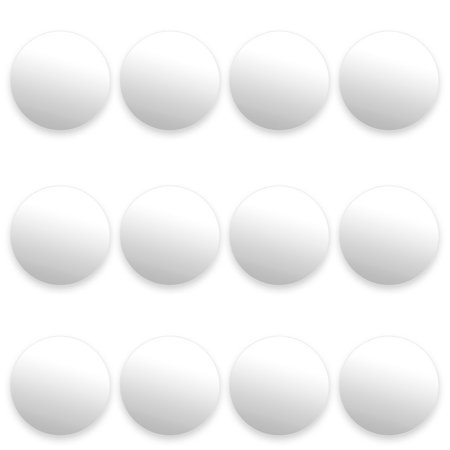 12 Pack of Smooth White Foosballs for Standard Foosball Tables & Classic Tabletop Soccer Game Balls by, 12 SMOOTH FOOSBALLS: Smooth white foosballs are best for.., By Brybelly
