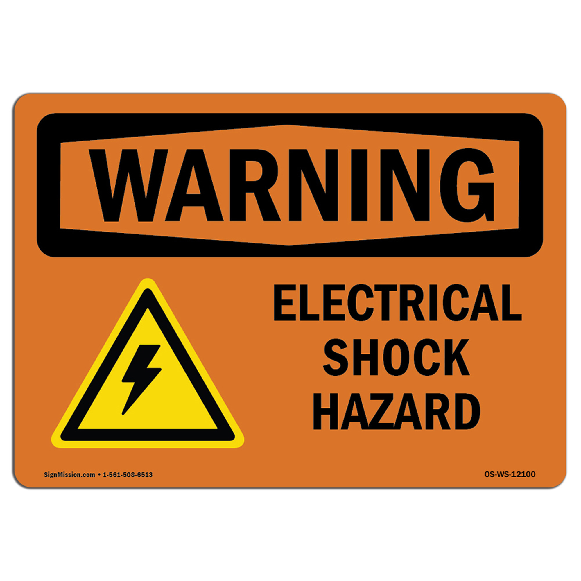 Electric Shock Risk Aged Look Vintage Retro Style Sign Safety Warning Danger