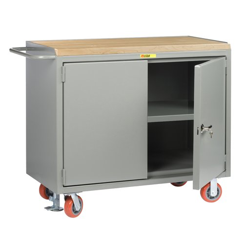 Little Giant USA Mobile 54''W Butcher Block Top Workbench by Little Giant USA