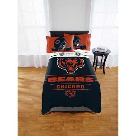NFL Chicago Bears Monument Twin or Full Comforter, 1 - Chicago Bears Decorations