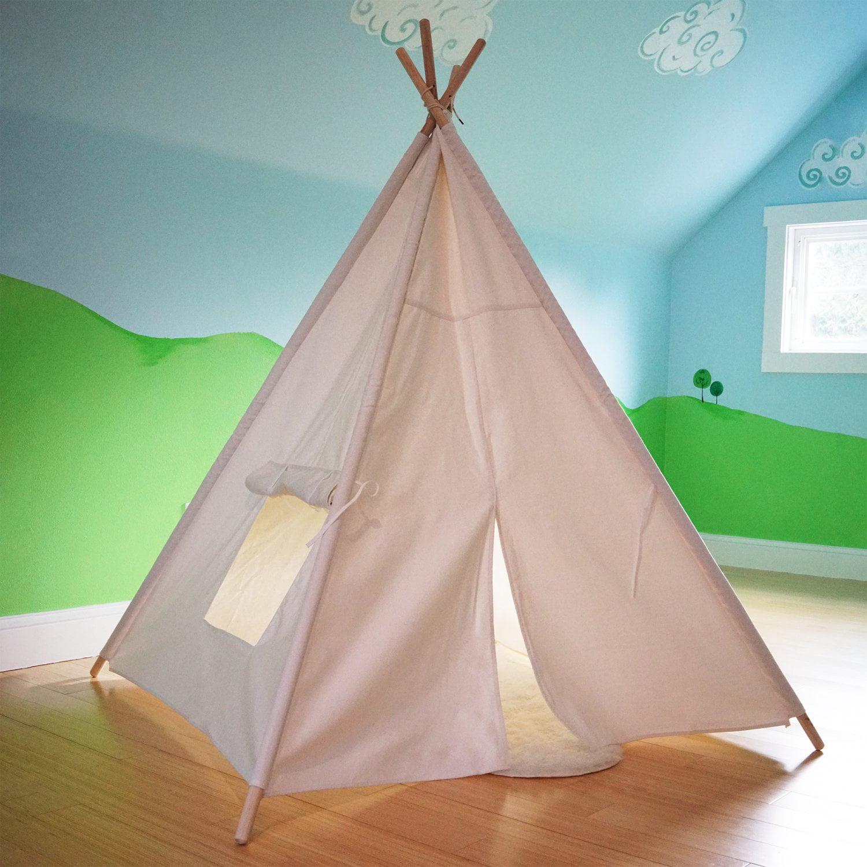 Small Boy Portable Kids Cotton Canvas Teepee Indina Play ...