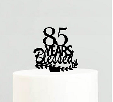 85th Birthday / Anniversary Blessed Years Cake Decoration Topper