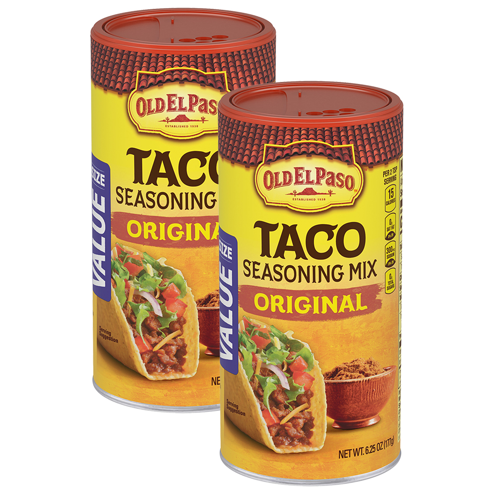Old El Paso Taco Original Seasoning, 6.25 oz, 6.25 OZ (2 Pack)