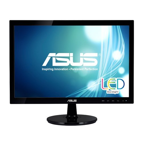 Asus VS197T-P 19in Ws Led Hdcp 1366x768 Mntr Vs197t-p Vga Dvi-d Blk 5ms Speaker