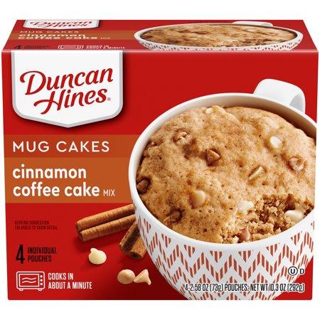 Duncan Hines Mug Cakes Cinnamon Coffee Cake Mix 4 - 2.58 ...