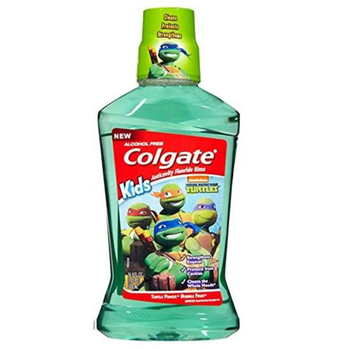 Colgate Kids Turtle Power Bubble Fruit Anticavity Fluoride Rinse, 16.9 oz (Pack of 3)
