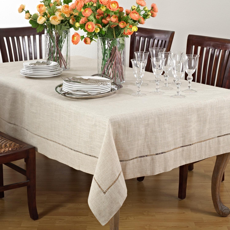 Saro Lifestyle Toscana Linen Blend Tablecloth