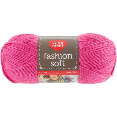Red Heart Fashion Soft Yarn, Bright Pink