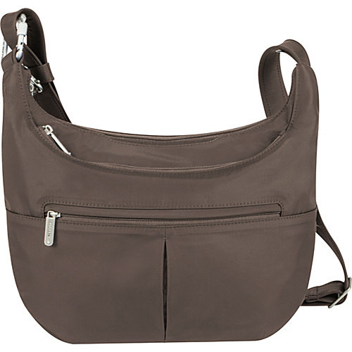 travelon anti-theft classic slouch hobo, berry, one size