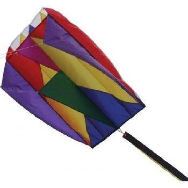 Kite Parafoil 5 Rainbow with 500ft 30lb Test String and Winder by Premier Kites by