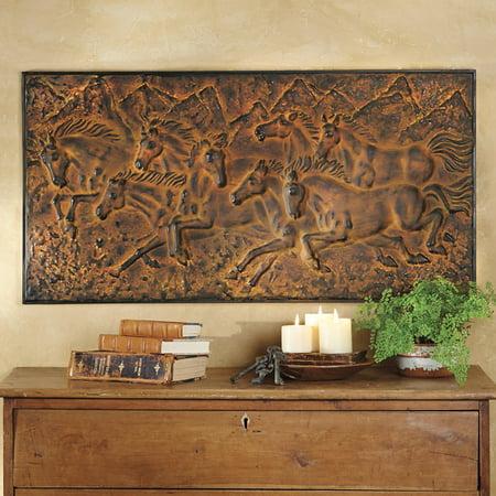 Mountain Run Horse Western Wall Plaque - Southwestern Decor - Western Decor Catalogs
