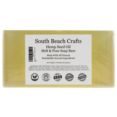 Hemp Seed Oil - 2 Lbs Melt and Pour Soap Base - South Beach (Seed Snap)
