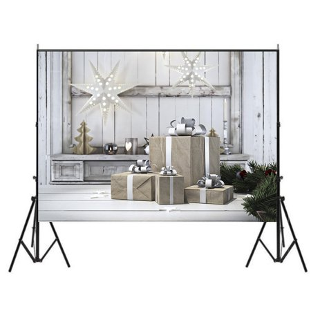 GreenDecor Polyster 7x5ft Photography Backgrounds, Merry Christmas Theme Backdrops, Photo Studio Props Best for Christmas Decoration, Children, Newborn,