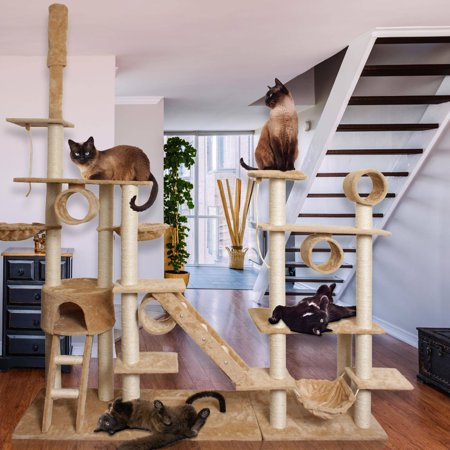 Cat Tree Tower - Premium Cat Tree Tower Condo Scratch Furniture, 96