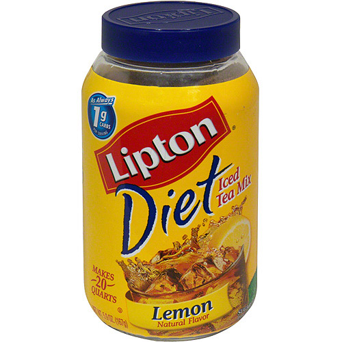 Lipton Diet Lemon Tea Mix, 5.9 oz (Pack of 6)