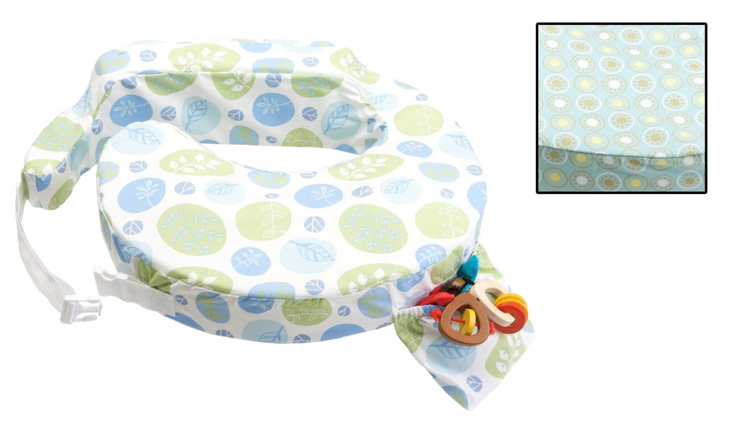My Brest Friend Original Nursing Pillow with Extra Slipcover, Blue Bells by My Brest Friend