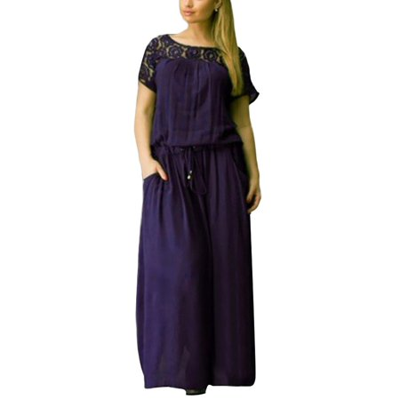 OUMY Women Casual Long Maxi Dress Party Cocktail Dresses Plus - Plus Size Victorian Dresses