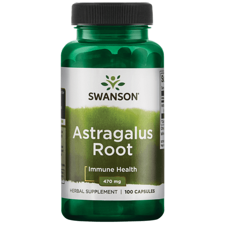 Swanson Astragalus Root 470 mg 100 Caps