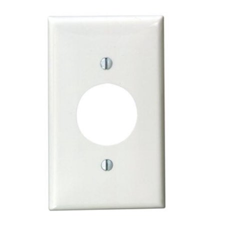Leviton 002 80704 00W Power Outlet Wall Plate Thermoplastic Nylon Whit