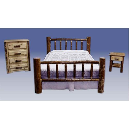 Glacier Country 3 Pc Log Bedroom Set (Queen)
