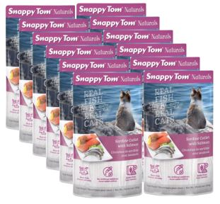 (12 Pack) Snappy Tom Naturals Sardine Cutlet with Salmon Grain Free Wet Cat Food, 3.5 Oz.