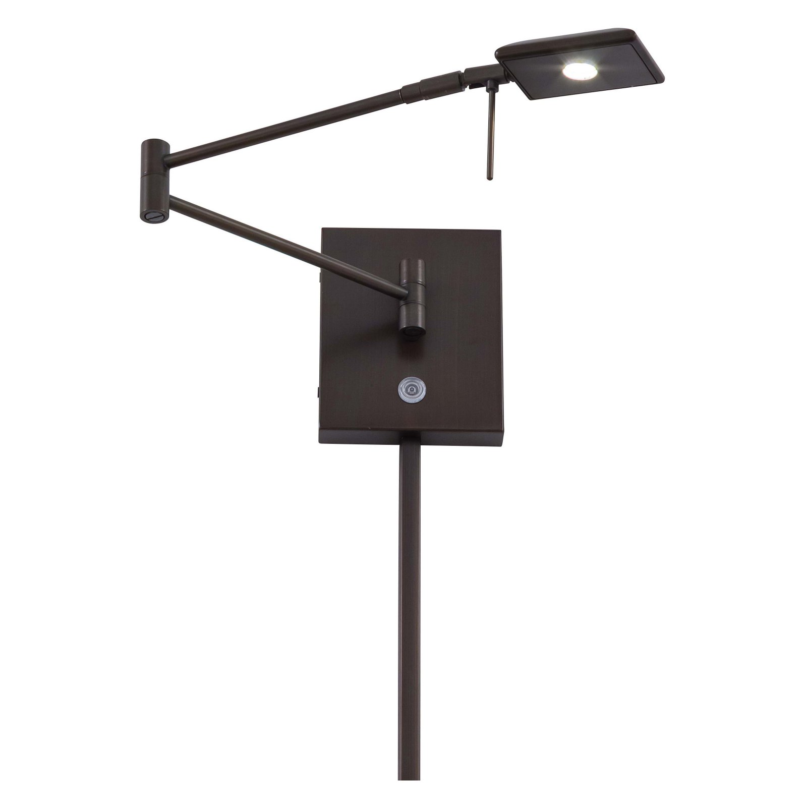 George Kovacs 1-Light LED Swing Arm Wall Lamp 13.75W in. Copper Bronze Patina by George Kovacs