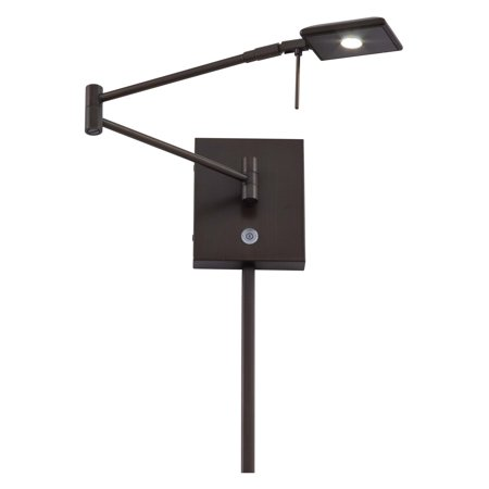 George Kovacs 1-Light LED Swing Arm Wall Lamp - 13.75W in. Copper Bronze Patina