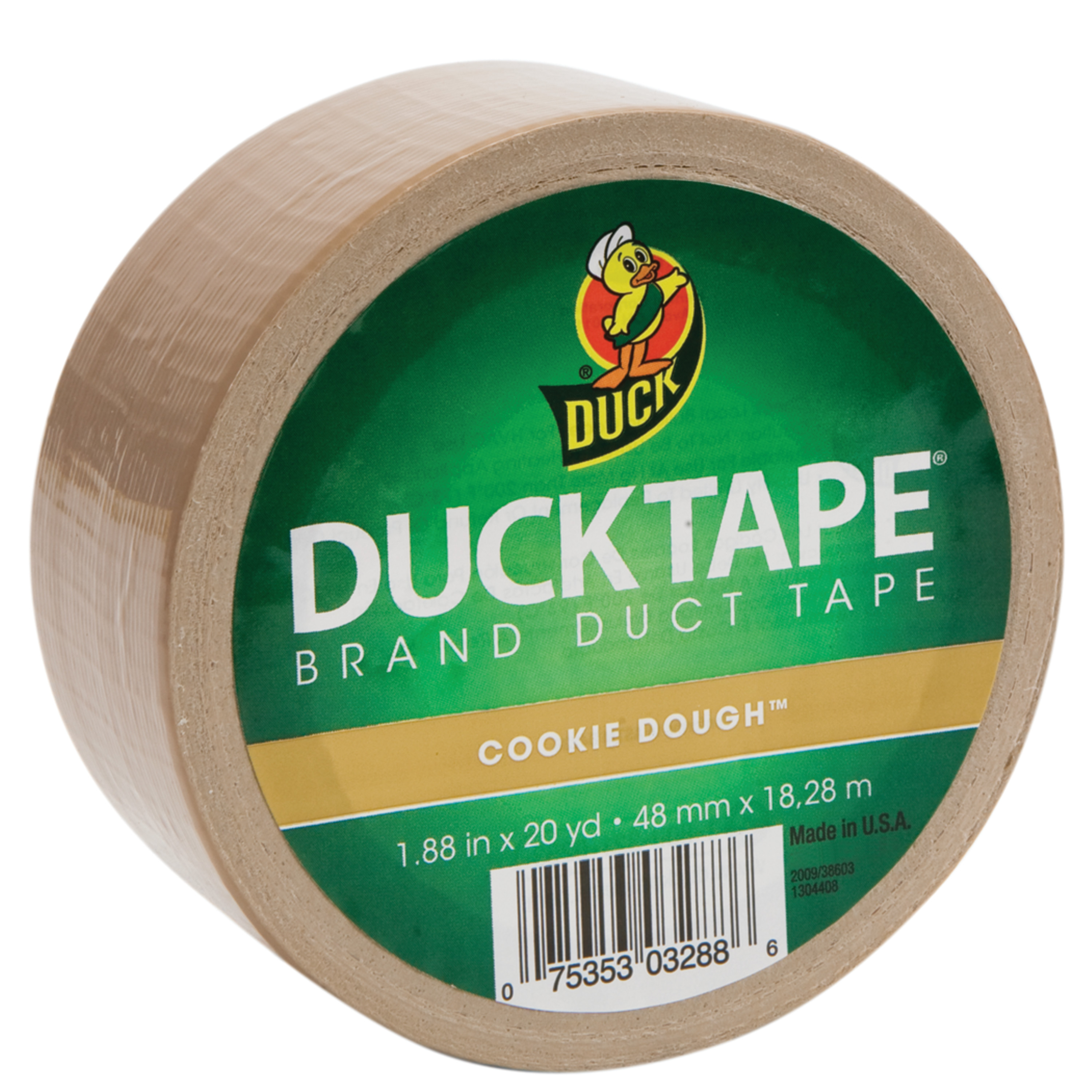 "Duck Tape Solid Color Duck Tape, 1.88"" x 20 yds., Cookie Dough"