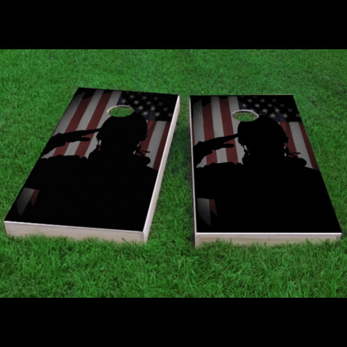Custom Cornhole Boards Veterans Salute Cornhole Game (Set of 2)