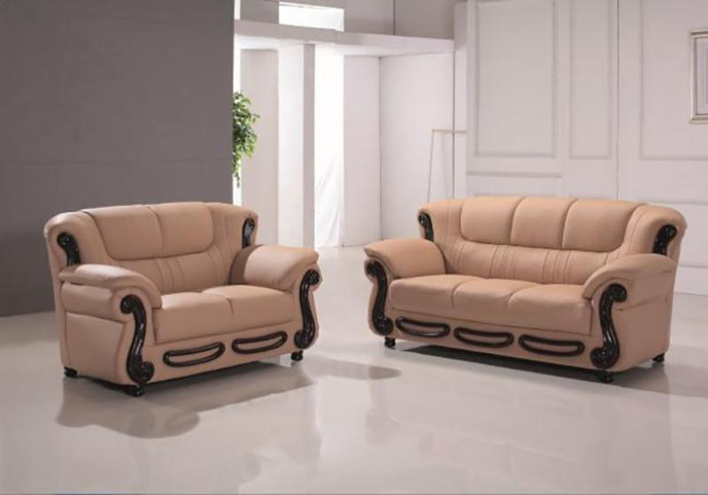 Maxwest C153-CM Modern Camel Genuine Leather Sofa and Loveseat Set 2 Pcs -  Walmart.com