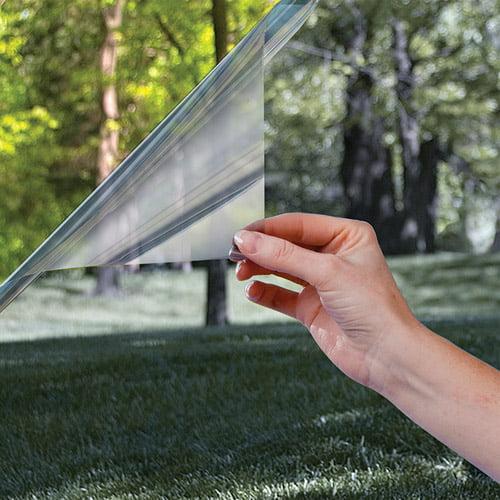 "One Way MIRROR Reflective Tint Silver 35/% 48/""x 100/' Feet Window Film Light usa"