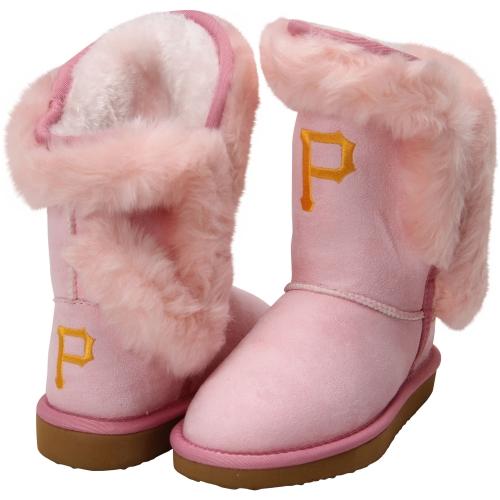 Cuce Pittsburgh Pirates Youth Girls Mini-Me Fanatic Boots - Pink