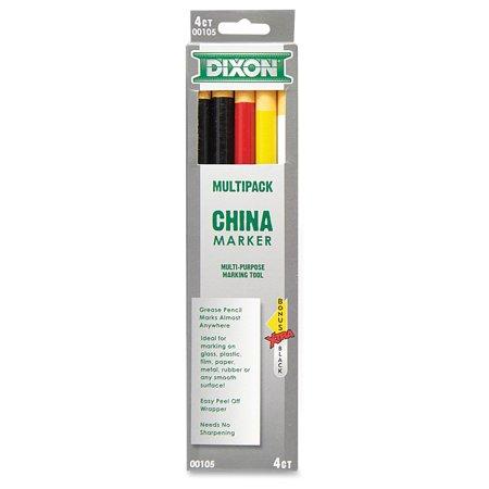 DIXON CHINA MARKERS ASST 5PK Dixon Ticonderoga Permanent Marker