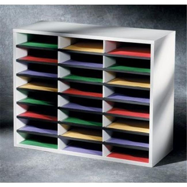 Fellowes FEL25041 Smart Stack 24 Compartment Literature Organizer