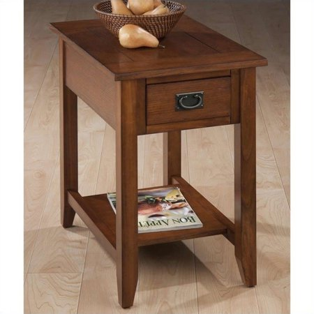 Bedroom Oak Accent Table - Jofran Chairside Table in Mission Oak Finish