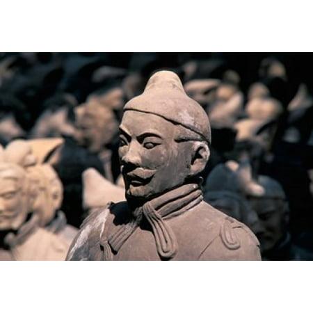 Emperor Qins Terra Cotta (Terra Cotta Warriors at Emperor Qin Shihuangdis Tomb China Canvas Art - Keren Su  DanitaDelimont (36 x 24))