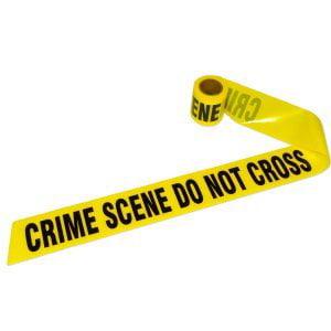 Crime Scene Tape (Boston Industrial Barricade Yellow Tape: CRIME SCENE DO NOT ENTER - 10 roll)