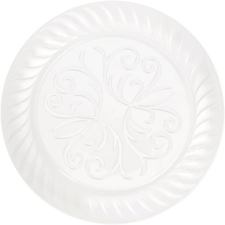 Clear Fluted Plastic Plates, 9in, 10ct - Plastic Clear Plates